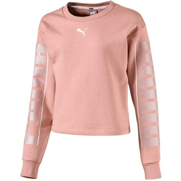 3f2865a0abb4 Puma Girls Style Crew Sweat Top ( 42) ❤ liked on Polyvore featuring tops