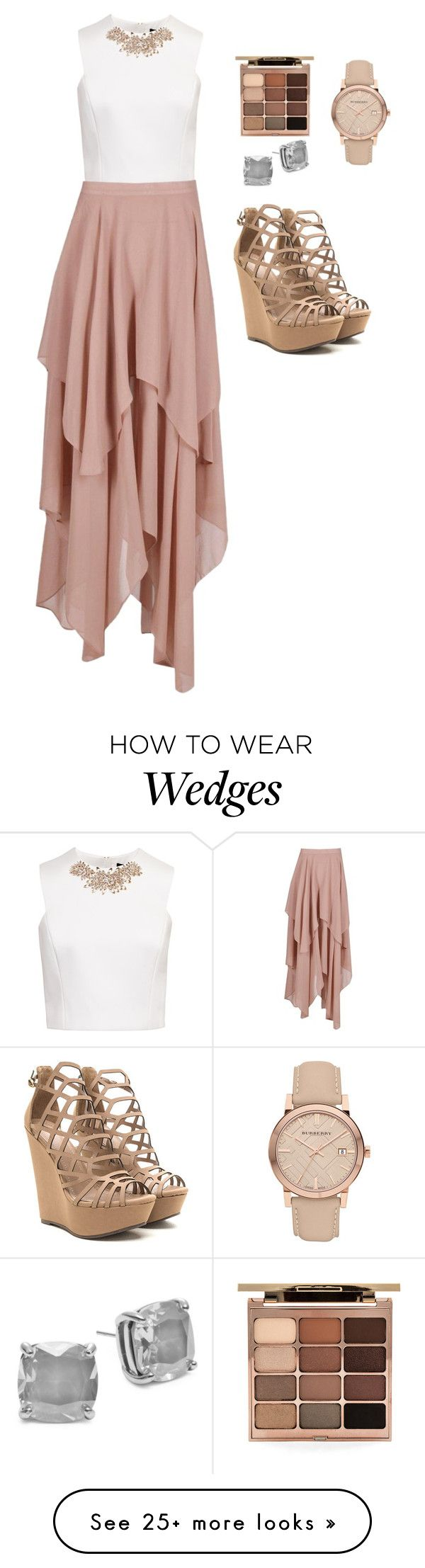 """#11"" by unipanda04 on Polyvore featuring Ted Baker, Boohoo, Stila, Burberry and Kate Spade"