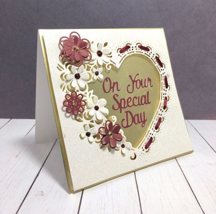 This card would be perfect to give anyone for Valentine's Day or for a wedding. Created by Judy VanZandt for #crafterscompanion