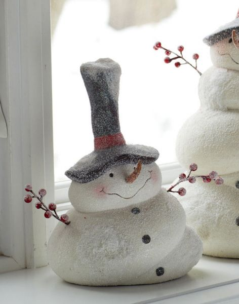 "Small Snowman w/Big Hat 8.5""H Ceramic - looks as if they are selling it, but there's no price"