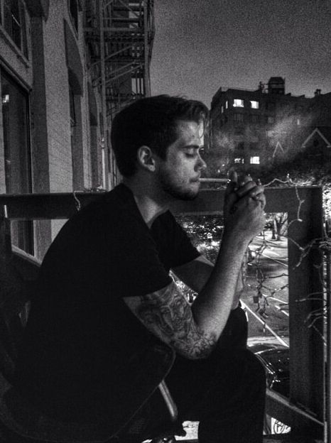 Jack and coke smokin on the fire escape.
