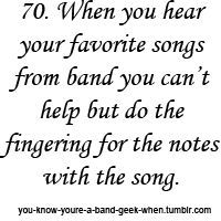 You know you're a Band Nerd when...