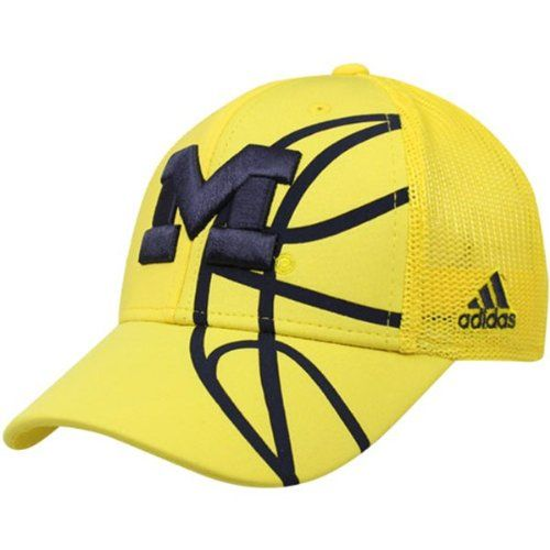 IMAGES OF THE MICHIGAN WOLVERINES BASKETBALL Logo | Michigan Wolverines Basketball Adidas Flex Fit Cap Hat Large / X-Large