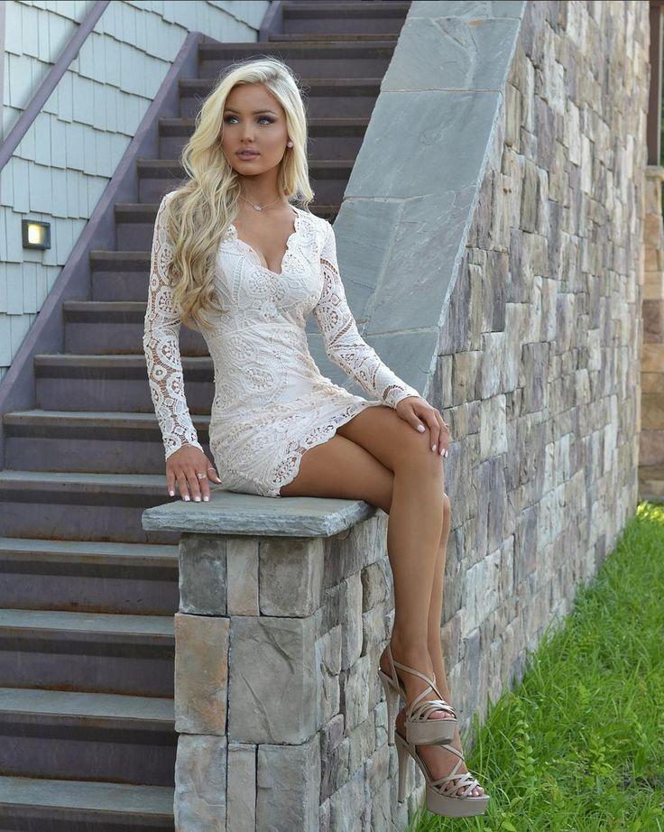 Dress, Short, Crochet, Taupe, Long sleeve, V- neck, Open back, fashion, cute, Online Boutique