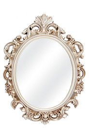 ORNATE OVAL MIRROR, 70X94CM