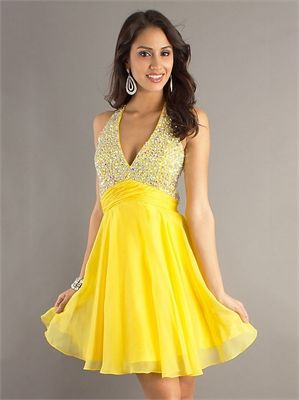 Halter Deep V-neck with Beadings Cut Out Back Short Prom Dress PD11142 www.dresseshouse.co.uk £152.0000  ----2013 Prom Dresses,Prom Dresses 2013,Prom Dresses,Prom Dresses UK,2013 Prom Dresses UK,Prom Dresses 2013 UK