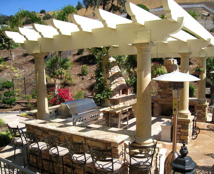 Best Outdoor Barbecue Images On Pinterest Decks Pergola - Design ideas for backyard bbq patios