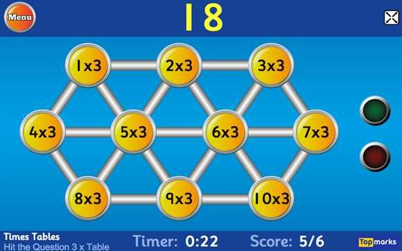 Times Tables Games (Multiplication)