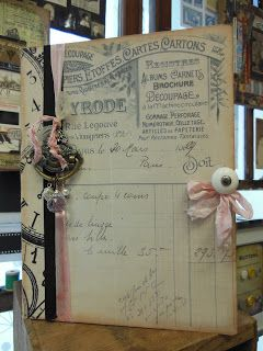 """Tim Holtz Style """"French Industrial"""" Configuration Book by leraioriginals.blogspot.ca"""