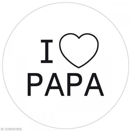 Pastilla silicona - I love papa - Funny cuisine para sello de galletas - 7,5 cm - Fotografía n°1