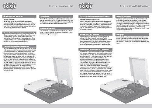 Trixie 24372 Futterautomat TX2, 2 x 300 ml, 27 x 7 x 24 cm, schwarz/granit - http://www.futterautomat-katzen.de/produkt/trixie-24372-futterautomat-tx2-2-x-300-ml-27-x-7-x-24-cm-schwarzgranit/