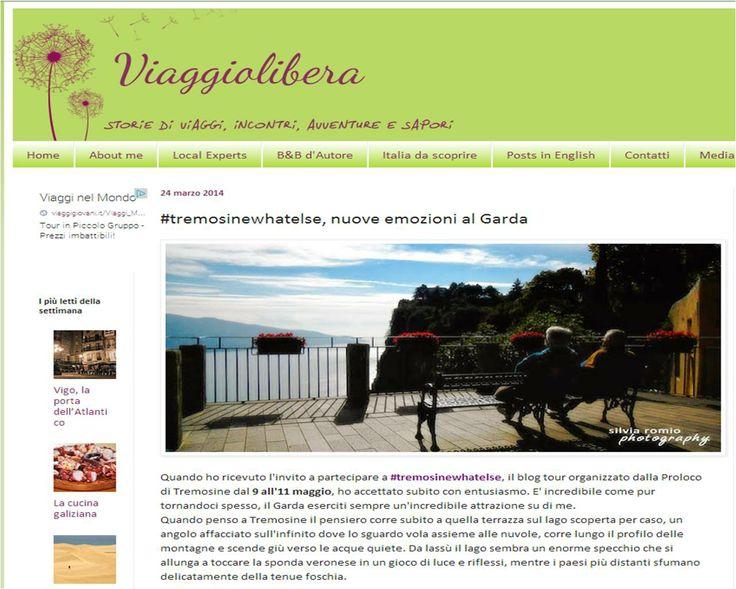 Cosa si aspetta Silvia di Viaggiando libera da #tremosinewhatelse, nuove emozioni al Garda... per continuare a leggere l'articolo clicca sull'immagine