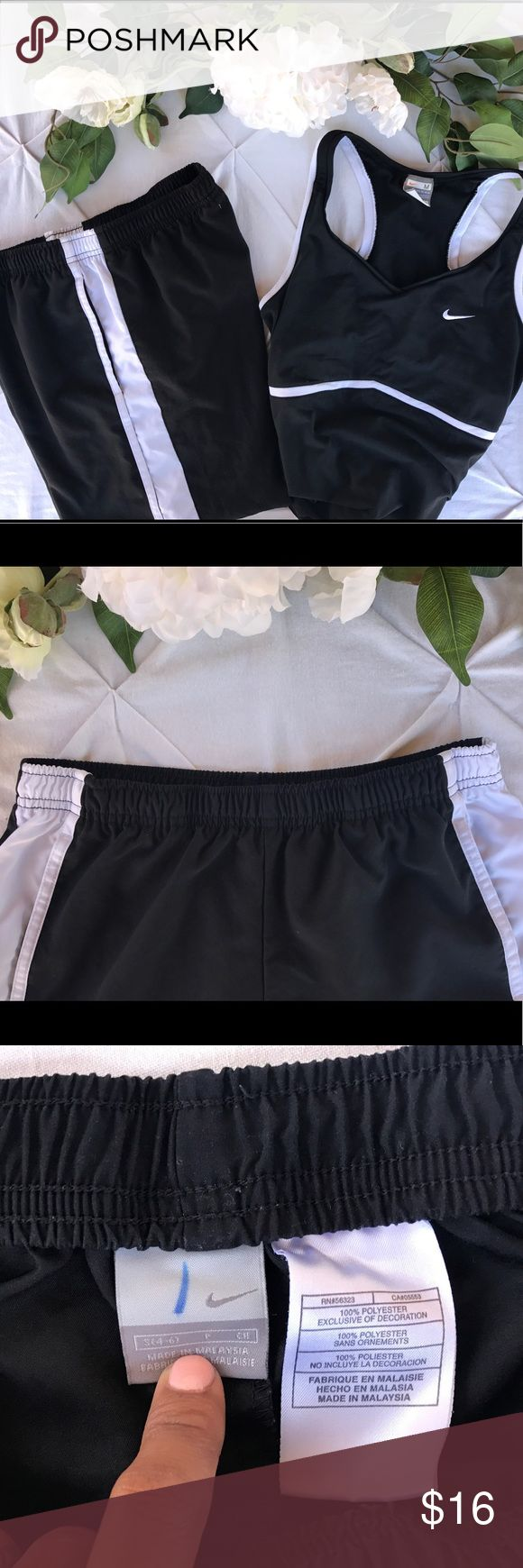 ⭐️Nike Capri workout pants⭐️ Nike workout pants 100% polyester and super soft. PLEASE reference pictures for measurement. Waist has an elastic waist band and drawstring to give you the perfect look. In excellent used condition 🛑🛑they fit like 7/8 pants or ankle pants but for me personally since I'm short they fit me like high waters but they are suppose to fit abound the ankle 🛑🛑🛑please ask questions ⭐️ Nike Pants Track Pants & Joggers