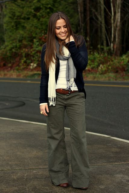 Pants: Banana Republic (thrifted).  Long-white Tee: Gap.  Sweater: The Loft.  Scarf: Old Navy. Belt: Mr.'s.  Oxford Shoes: Payless.