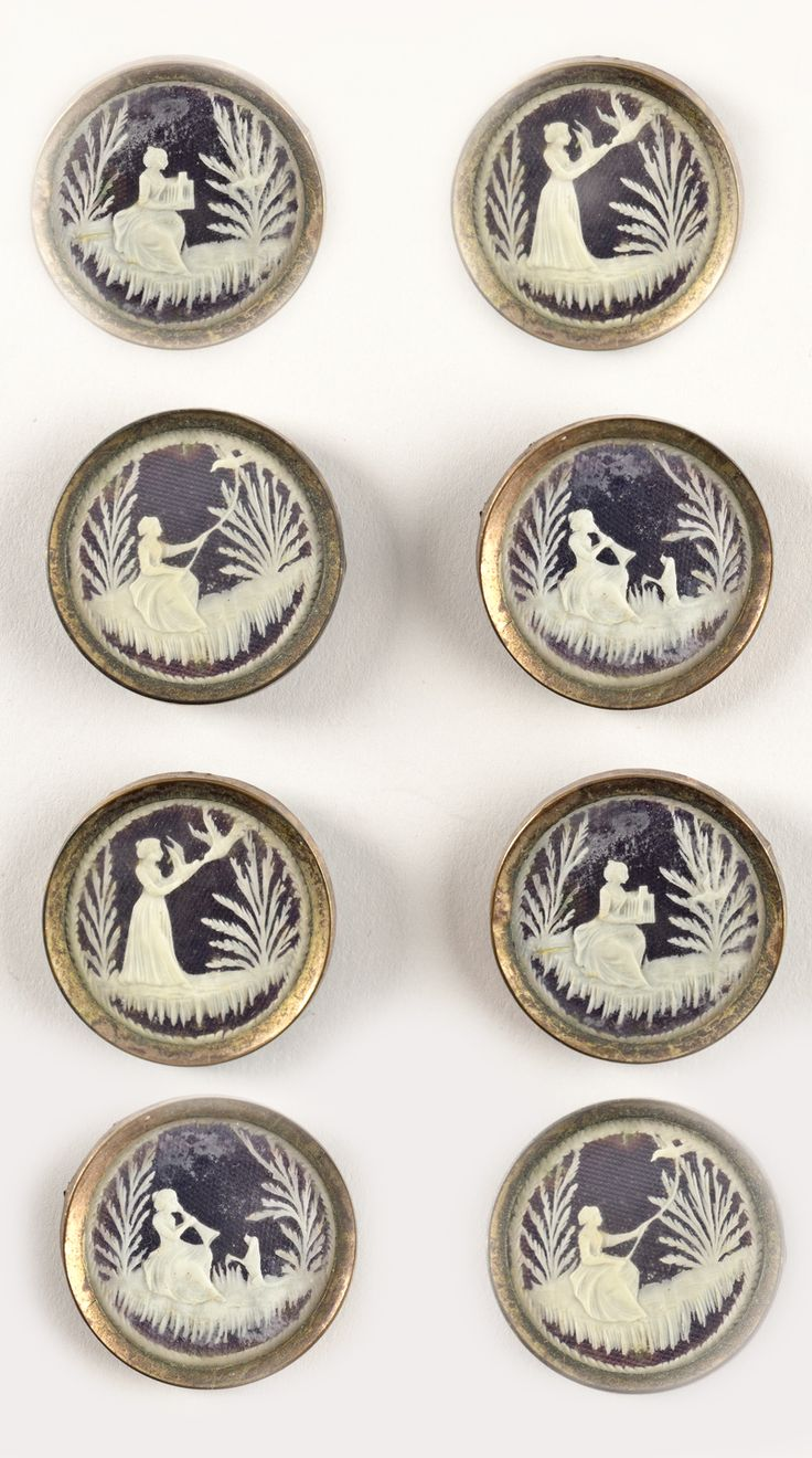 Antique French Cameo Buttons