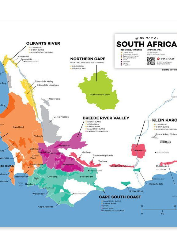 South Africa Wine Region Map NOW AVAILABLE IN PDF! SOUTH AFRICA–PIONEERING WINES WITH BIG
