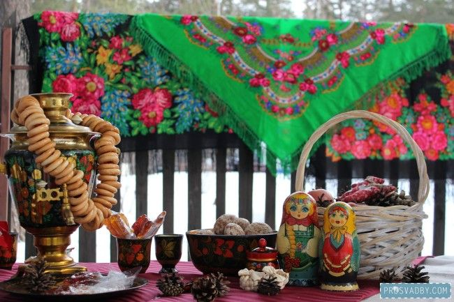 Russian style winer wedding