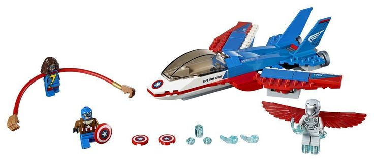 LEGO Marvel Super Heroes Captain America Jet Pursuit (76076) | Read more here: www.thebrickfan.com/lego-marvel-super-heroes-winter-2017-...