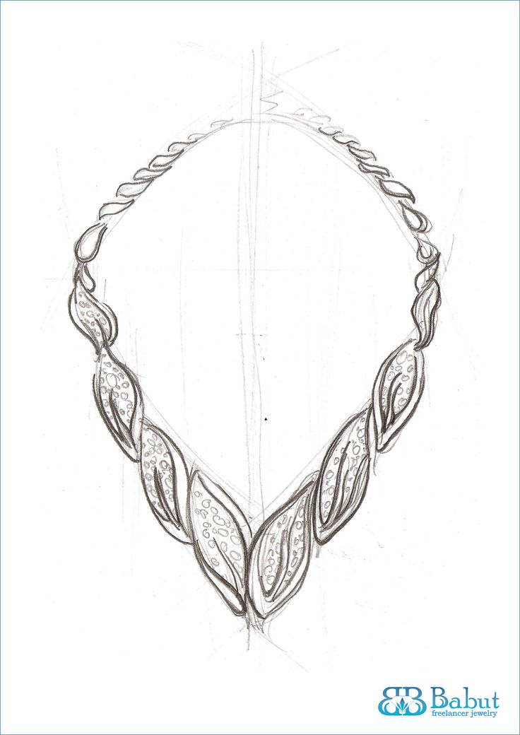 sketch necklace