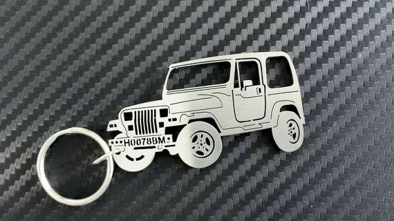 Jeep Wrangler Keychain Personalized Keychain by GuestFromThePast