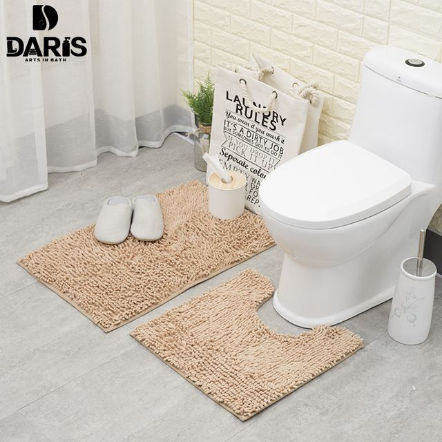 Anti Slip Bathroom Floor Mat Machine Washable Microfiber Chenille Bath Mats Toilet Door Mat Outdoor Shower R Bathroom Floor Mat Chenille Bath Mat Soft Flooring