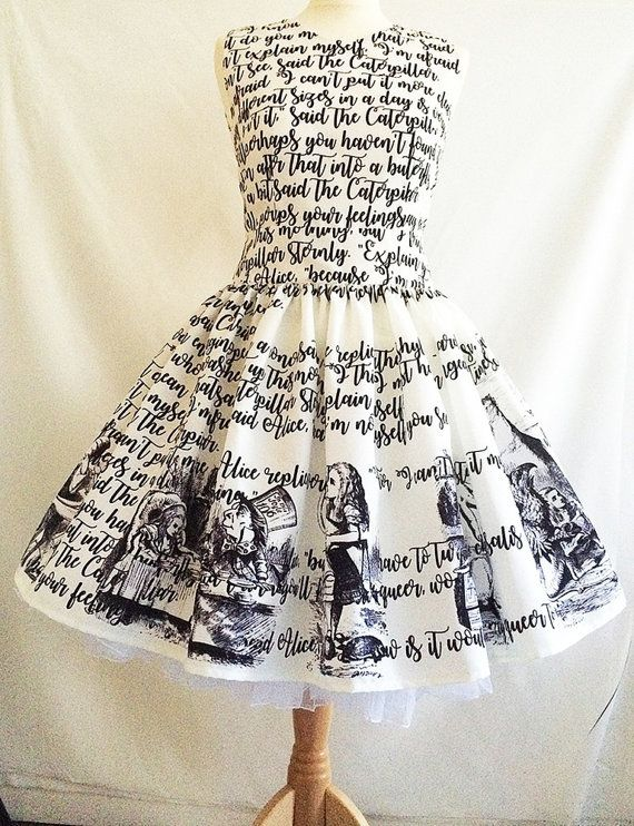 Alice In Wonderland Dress Literature dress Book Dress by RoobyLane