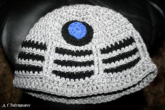 crochet dalek hat free pattern. Dr. Who