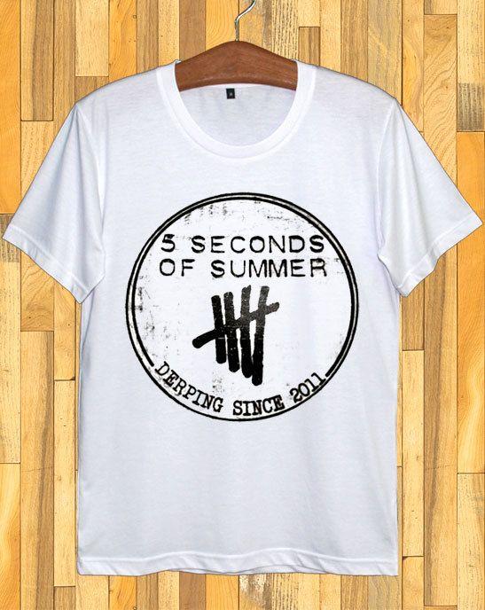 5Sos camicia secondo cinque di estate camicie 5Sos TShirt secondo 5 dell'estate TShirt T Shirt magliette Unisex taglia S M L XL