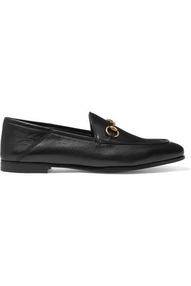 Gucci - Horsebit-detailed Collapsible-heel Leather Loafers - Black