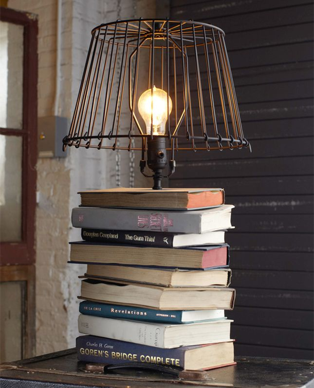 Buch Recycling Lampe