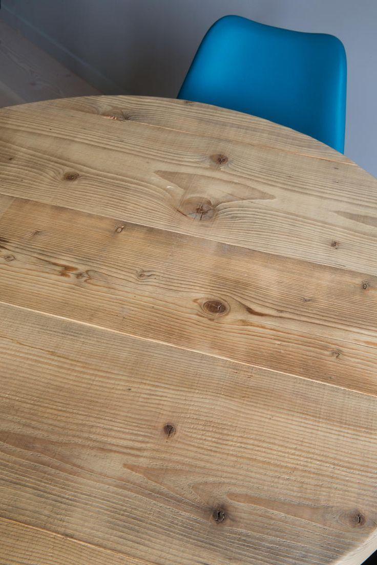 Table bois massif clair⎥ronde⎥salle à manger…