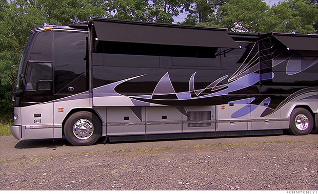 Pay a million dollars for a luxury motor home with 2 for Motor coaches with 2 bedrooms