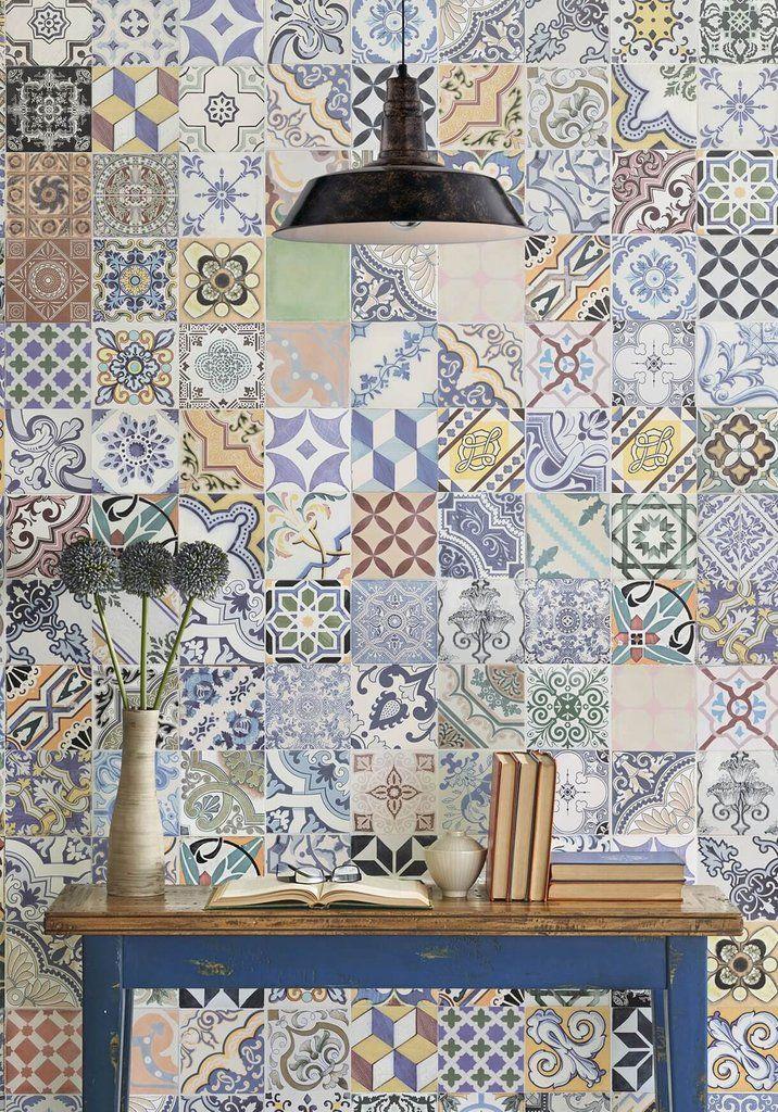 Federation Tiles Wallpaper Design By Milton King Tile Wallpaper Unique Wallpaper Reclaimed Tile