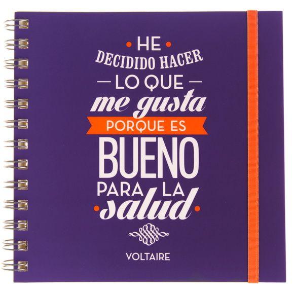 Cuaderno con frase original - Voltaire