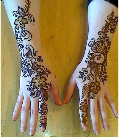 Beautiful Floral Mehndi Designs