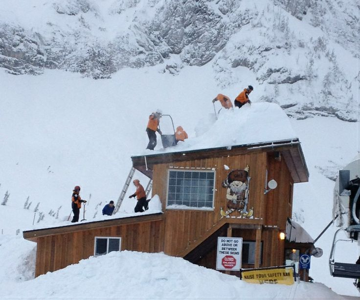 Getting all that pow off the roof is important!