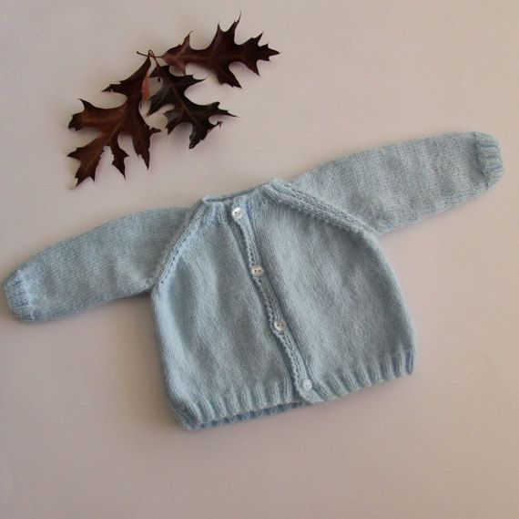 Baby coat baby cardigan hand-knitted baby coat by ProjectKnitting