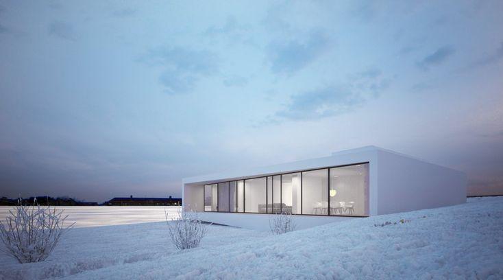 Le cabinet polonais Moomoo Architects a réalisé une maison familiale minimaliste à Reykjavik, Islande.