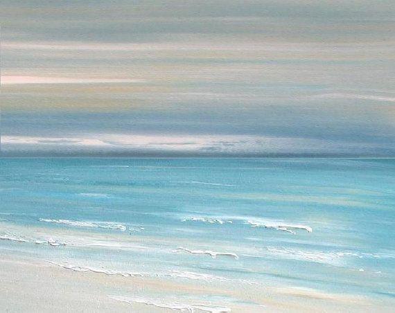 Beach decor painting art print coastal decor by FradetFineArt
