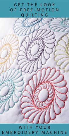 Get the look of Free Motion and Long Arm Quilting with your embroidery machine. Nancy's Notions | Quilting | Embroidery | Sewing | DIY #machineembroidery