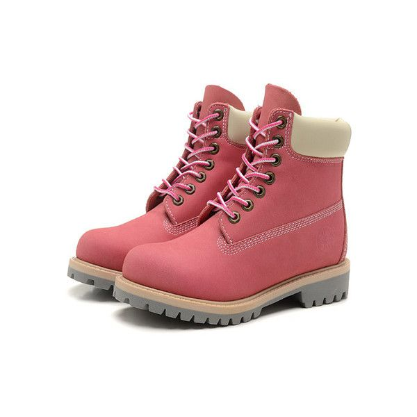 timberland boots grey and pink