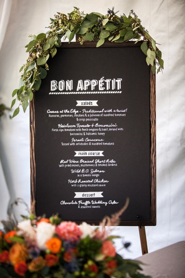 Bon Appetit wedding menu! Photography By / robinoneillphotography.com, Wedding Planning   Styling By / spreadloveevents.com, Floral Design By / celsiaflorist.com