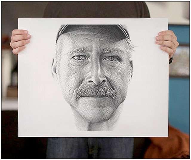 Ink Dot Drawings by Miguel Endara