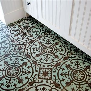 Tile!!!  What a fun idea for a bathroom floor!