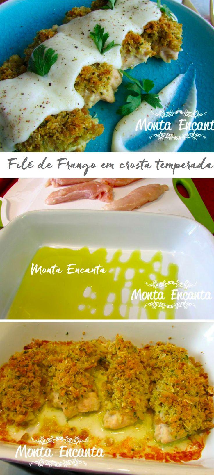 Filé de Frango ao Molho Limone em crosta temperada, assado ao forno e pronto em 30min!