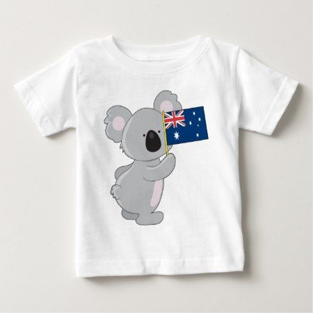 Koala Australian Flag Baby T-Shirt - tap, personalize, buy right now!
