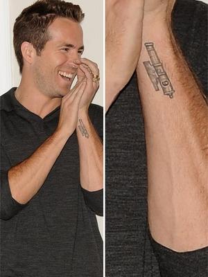 Ryan Reynolds Tattoos Pinterest