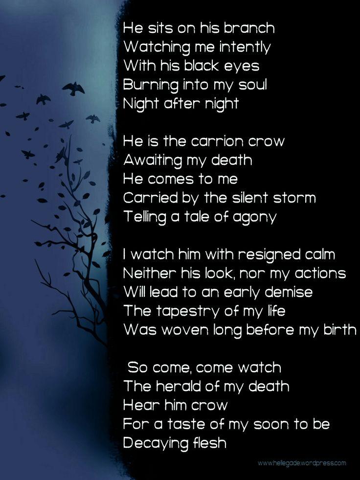 The Crow #NationalPoetryMonth #poetry