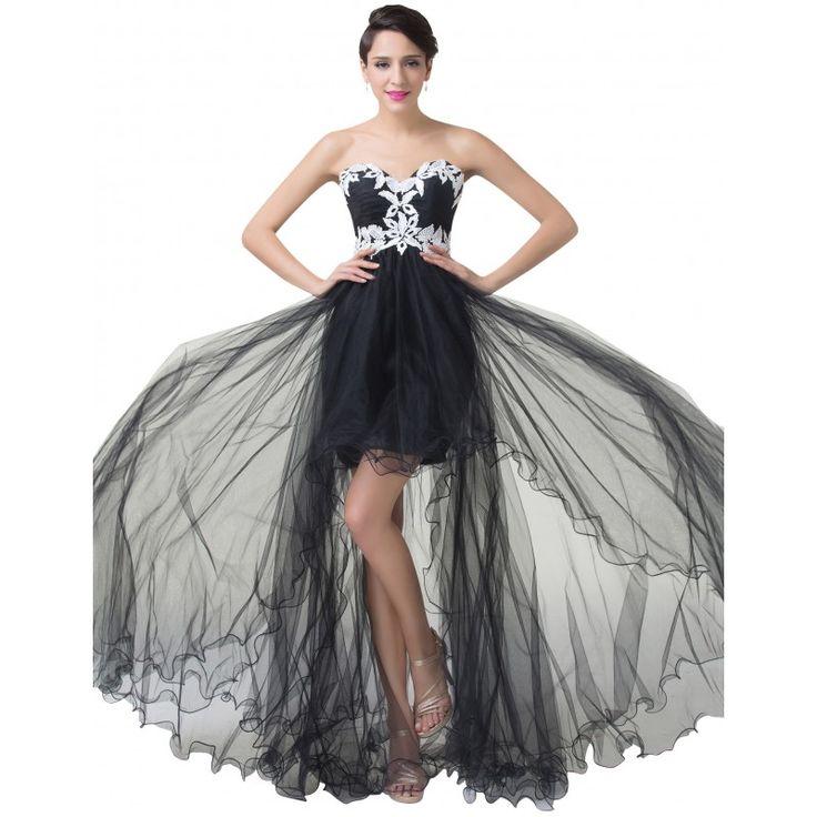 Čierne spoločenské šaty CL6191