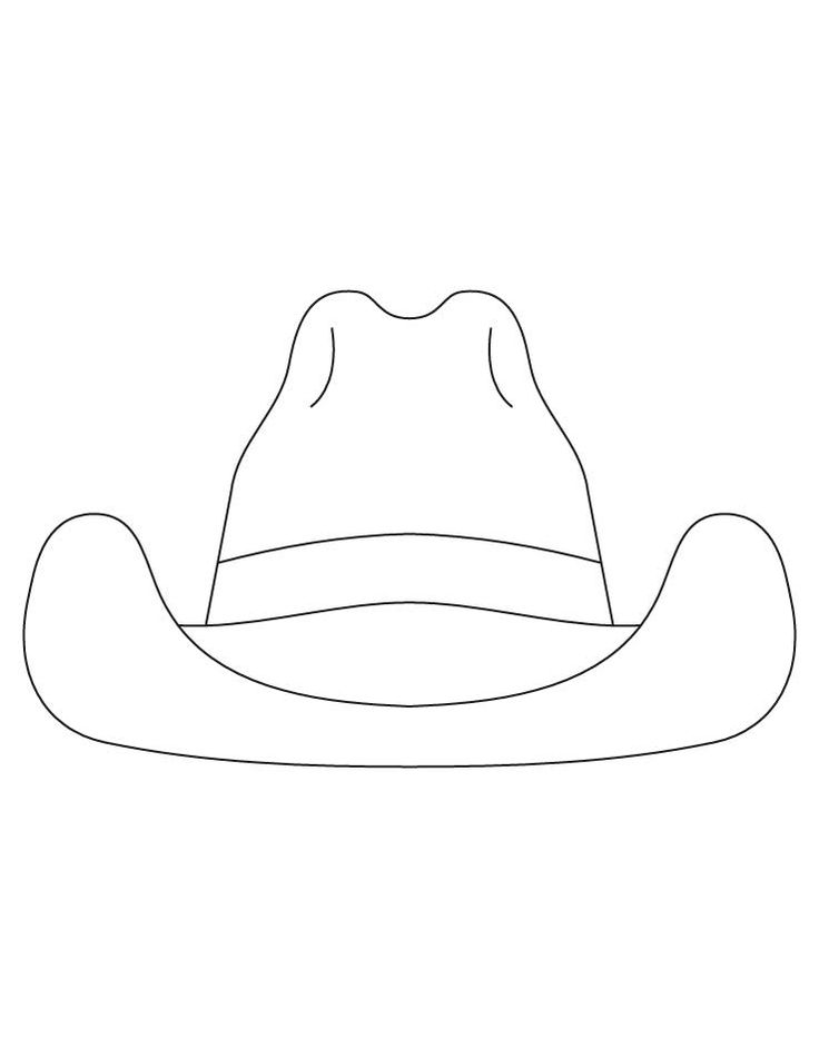 santa hat colouring pages page 2 pix for cowboy hat template for kids